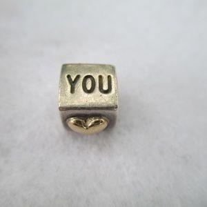 PANDORA I Love You 14K & Silver Charm
